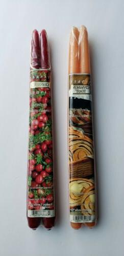 *New* Vintage Yankee Candle Tapers in Cinnamon Toast & Cranb