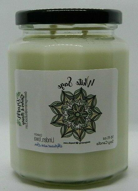 white sage dw 16 oz soy candle