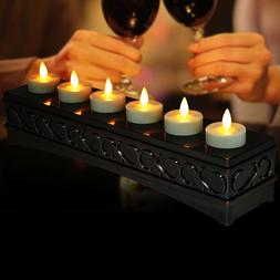 led rechargeable moving wick flame flickering tealight