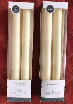 Threshold Led Taper Candles Unscented Faux Flame Two Boxes 4
