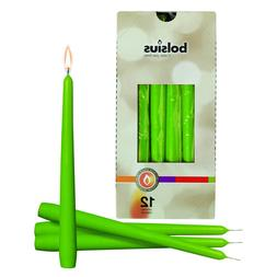 """Lime Green 10"""" Taper Unscented Candles Gift for Wedding Dinn"""