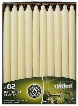 BOLSIUS Long Household Taper Ivory Table Candle - Approx 12