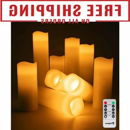Luminara Flickering Moving Wick Flameless Pillar Candle Led