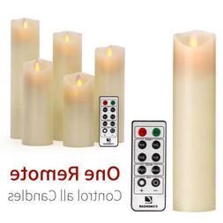 Luminara Wax Moving Wick Flameless Candle Set Of 5 Candle +