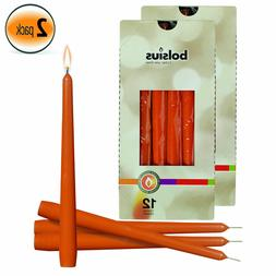 """Mango 10"""" Colored Taper Unscented Table Candles Wedding Home"""