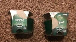NEW Set of 2 Glade 6.8 oz Icy Evergreen Forest 3 Wick Scente
