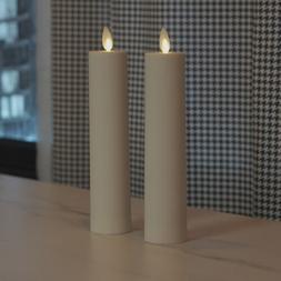 Set of 2 Luminara Flameless Votive Candles w/remote Moving W