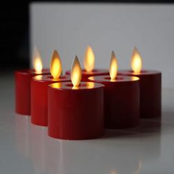 Set of 6 Luminara Flameless LED Tea Light Candles with Movin