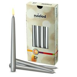 """Silver 10"""" Taper Unscented Decorative Candles for Wedding Di"""
