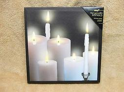 Tapers Pillars Candles BEAUTIFUL Lighted Canvas Wall Decor S