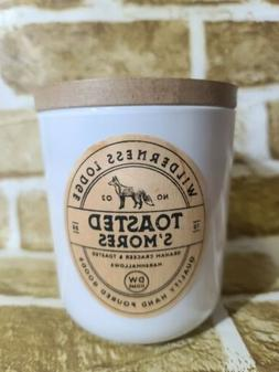 DW Home~TOASTED S'MORES~RARE Medium Candle~11.5 oz~Wooden