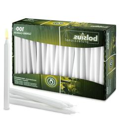 White Taper Candle in bulk, 10 inch high , 100 count in a bo